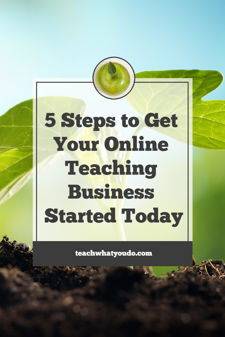 5 Steps to Get Your Own Online Teaching Business Started Today