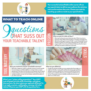 Your Teachable Talent | Teach What You Do