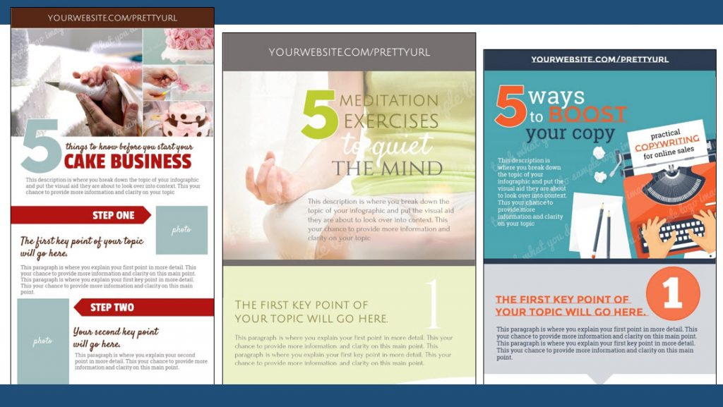 "Here's a look at three of the ""5-things"" freebie templates included in Jumpstart Your eCourse."