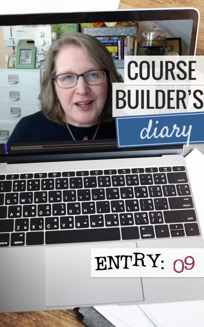Course Builder's Diary | Entry 09 | Prep to Teach Live + Email Planning
