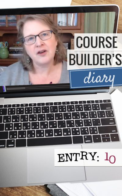 Course Builder's Diary | Entry 10 | Planners, 5-Day Classes, Divi, Making Lessons