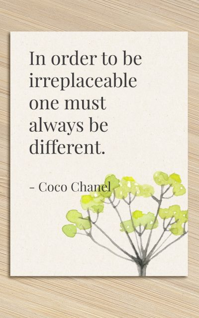 {instapost} To be irreplaceable: be different
