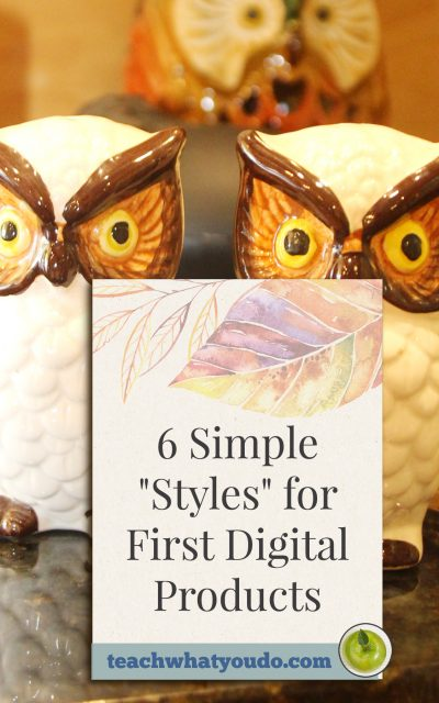 "6 Simple ""Styles"" for First Digital Products"
